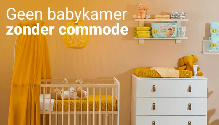 Geen babykamer zonder commode